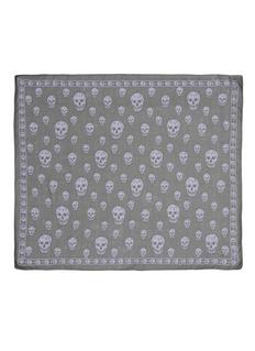 ALEXANDER MCQUEENClassic skull silk scarf