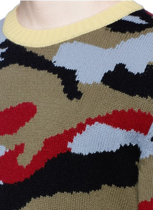 Detail View - Click To Enlarge - Valentino - Camouflage cashmere sweater