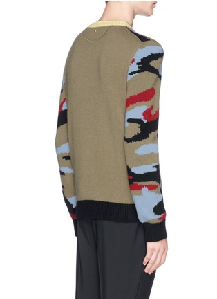 Back View - Click To Enlarge - Valentino - Camouflage cashmere sweater