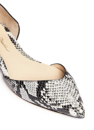 Detail View - Click To Enlarge - 3.1 Phillip Lim - 'Devon' snakeskin effect leather d'Orsay flats