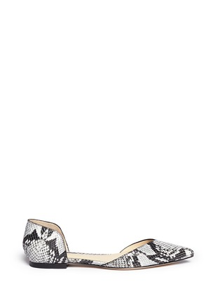 Main View - Click To Enlarge - 3.1 Phillip Lim - 'Devon' snakeskin effect leather d'Orsay flats
