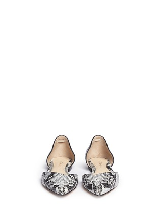 Figure View - Click To Enlarge - 3.1 Phillip Lim - 'Devon' snakeskin effect leather d'Orsay flats
