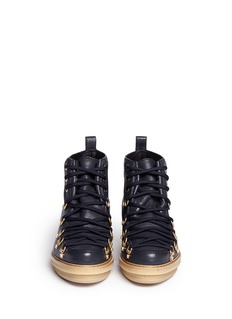 3.1 PHILLIP LIM 'Mallory' metallic leather ankle boots