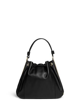 Back View - Click To Enlarge - Marni - Drawstring tassel leather shoulder bag