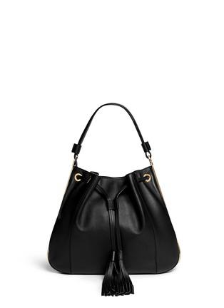 Main View - Click To Enlarge - Marni - Drawstring tassel leather shoulder bag
