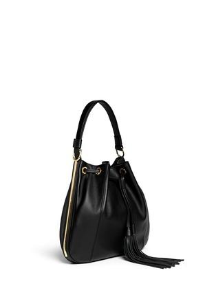 Figure View - Click To Enlarge - Marni - Drawstring tassel leather shoulder bag