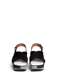 MARNI'Zeppa' crisscross strap flatform sandals