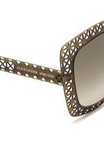 Laser cut lattice metal sunglasses