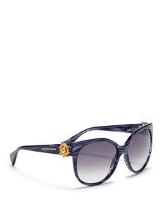 ALEXANDER MCQUEENSunray skull pearlescent stripe sunglasses