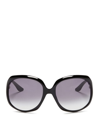 Main View - Click To Enlarge - Dior - 'Glossy 1' oversize acetate sunglasses