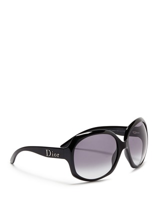 Figure View - Click To Enlarge - Dior - 'Glossy 1' oversize acetate sunglasses
