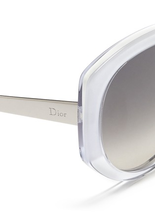 Detail View - Click To Enlarge - Dior - 'Dior Extase 1' metal temple ombré acetate sunglasses
