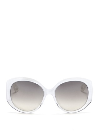 Main View - Click To Enlarge - Dior - 'Dior Extase 1' metal temple ombré acetate sunglasses