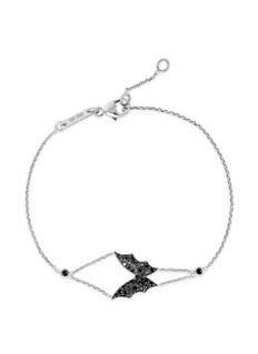 Stephen Webster'Fly By Night' black diamond 18k white gold batmoth bracelet