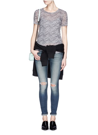 Figure View - Click To Enlarge - rag & bone/JEAN - Ripped skinny jeans