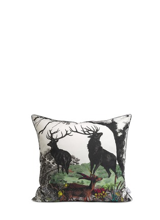 Kristjana S Williams - Twin Stags cotton cushion