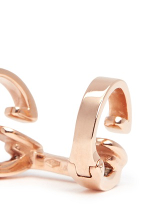 Detail View - Click To Enlarge - REPOSSI - 'Berbère' rose gold 2-hoop ear cuff