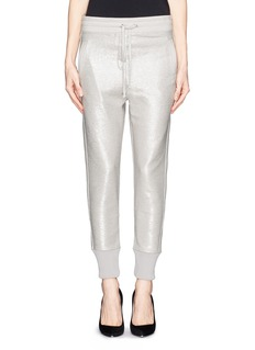 IRO 'Lotte' foil print sheer sweatpants