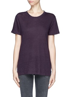 IRO'Lennon' bi-colour linen T-shirt