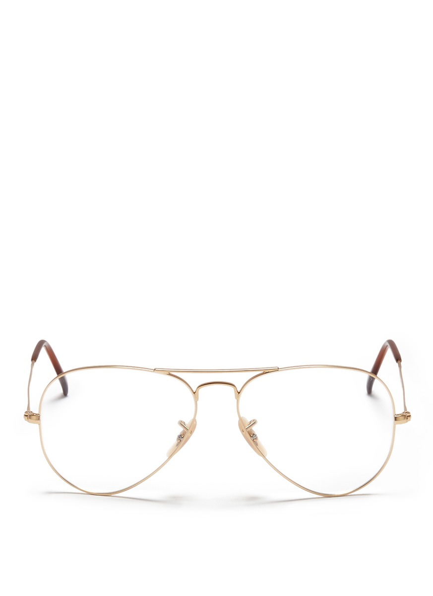 RAY-BAN - Double bridge wire aviator optical glasses - on ...