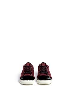 LANVINPatent toe cap suede sneakers