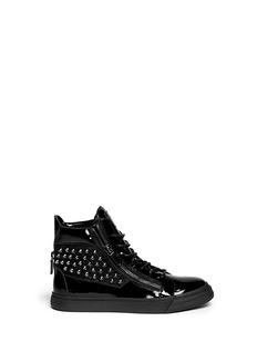 GIUSEPPE ZANOTTI DESIGN'London' stud patent leather sneakers