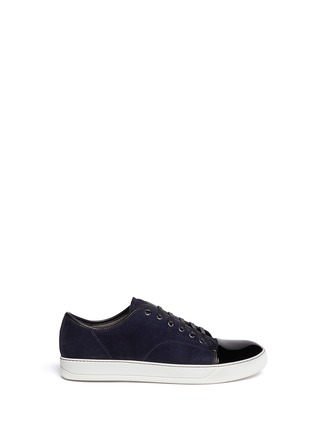 Main View - Click To Enlarge - Lanvin - Suede and patent leather sneakers