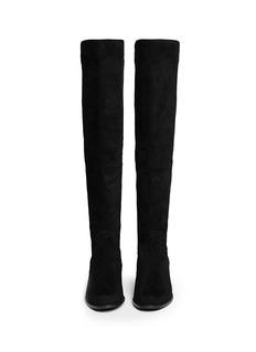 STUART WEITZMAN'Reverse' elastic back suede boots