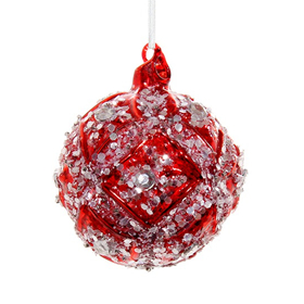 SHISHI AS SEQUIN FLORAL CHRISTMAS ORNAMENT
