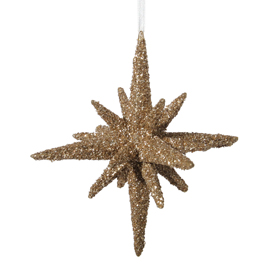 Shishi As Large glitter 3D star Christmas ornament