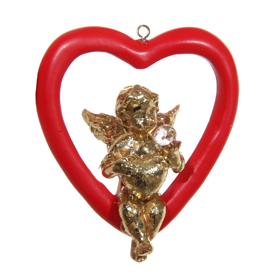 Shishi As Sitting angel heart Christmas ornament