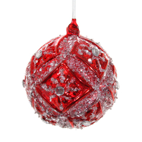Shishi As Glitter floral diamond Christmas ornament