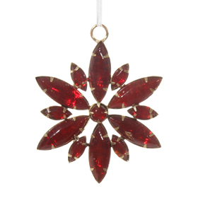 Shishi As Jewel floral snowflake Christmas ornament