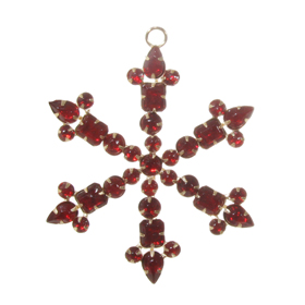 Shishi As Jewel snowflake Christmas ornament