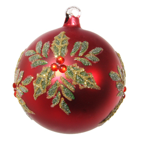 Shishi As Glitter poinsettia Christmas ornament