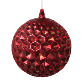 Shishi As Hexagonal ball Christmas ornament
