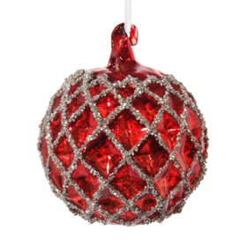 Shishi As Glitter concave diamond Christmas ornament