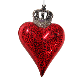 Shishi As Crowned heart small Christmas ornament