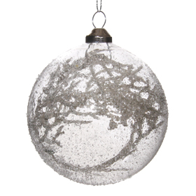 Shishi As Branch small iced glass Christmas ornament
