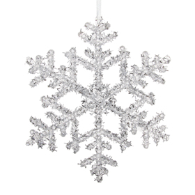 Shishi As Glitter snowflake Christmas ornament