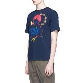 SACAI 'PARADISE GARAGE' PRINT COTTON T-SHIRT