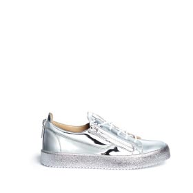 GIUSEPPE ZANOTTI DESIGN 'MAY LONDON' METALLIC LEATHER SLIP-ON SNEAKERS