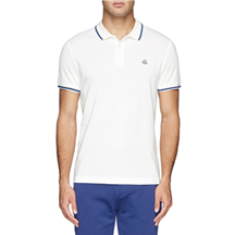 MONCLER - CONTRAST TRIM LOGO EMBROIDERY POLO SHIRT