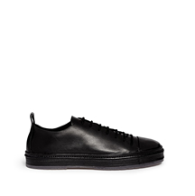 ANN DEMEULEMEESTER - RAW EDGE LEATHER SNEAKERS