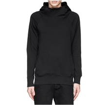 DEN IM BY SIKI IM - MOCK FUNNEL NECK COTTON HOODIE