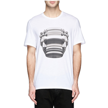 NEIL BARRETT - STRETCH SCULPTURE PRINT T-SHIRT
