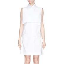 Ellery - Monsoon Bodice Overlay Poplin Shirt Dress