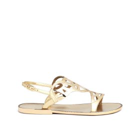 STUART WEITZMAN 'GEL FISHER' LATTICE CUTOUT JELLY SANDALS