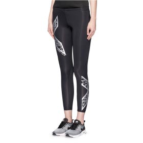 2XU 'COMPRESSION' METALLIC LOGO PRINT PERFORMANCE TIGHTS
