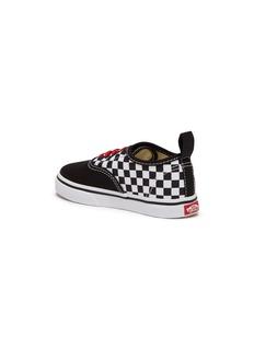 Vans 'Authentic Elastic' colourblock checkerboard kids sneakers
